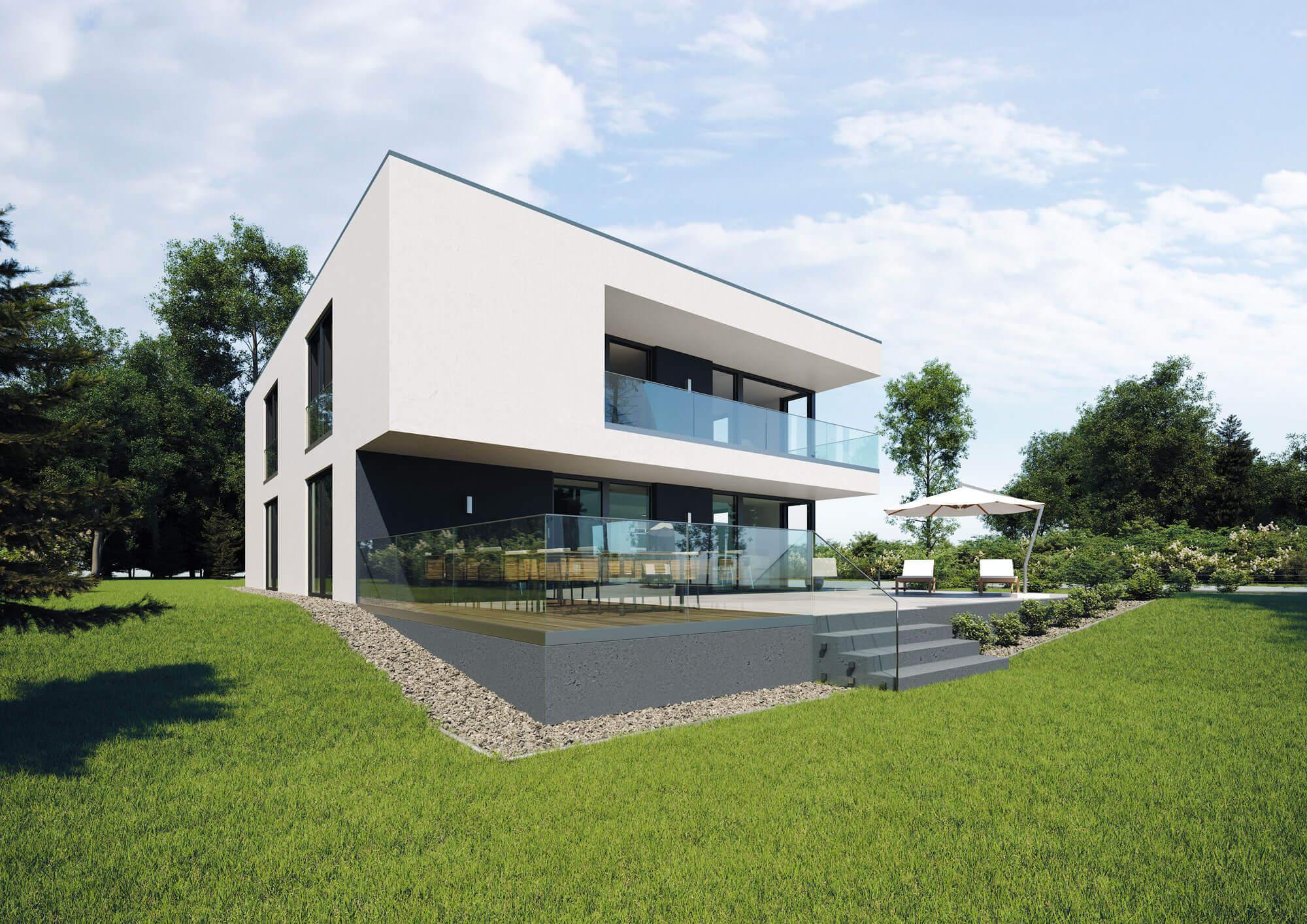 Feldmann Haus Ganzglasgeländer