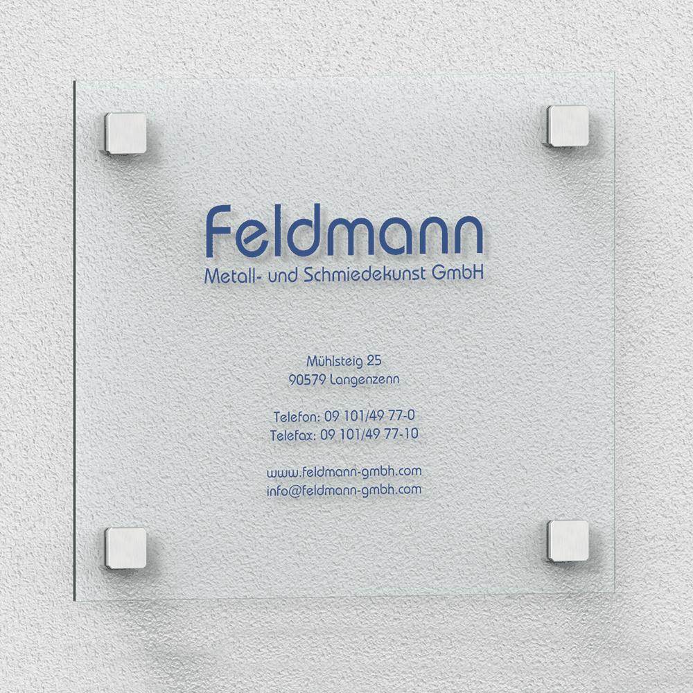 Anwendungsbeispiel Feldmann Schild – quadratische Punkhalter
