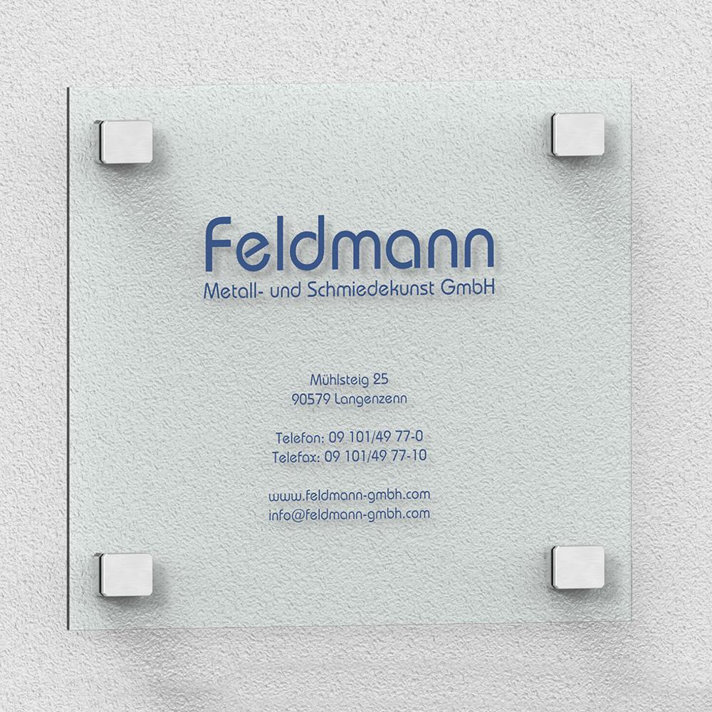 Anwendungsbeispiel Feldmann Schild – rechteckige Punkhalter