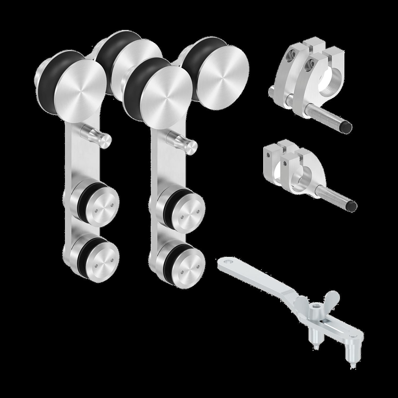 Glasschiebetürsystem mit 2 Rollen - Set 2