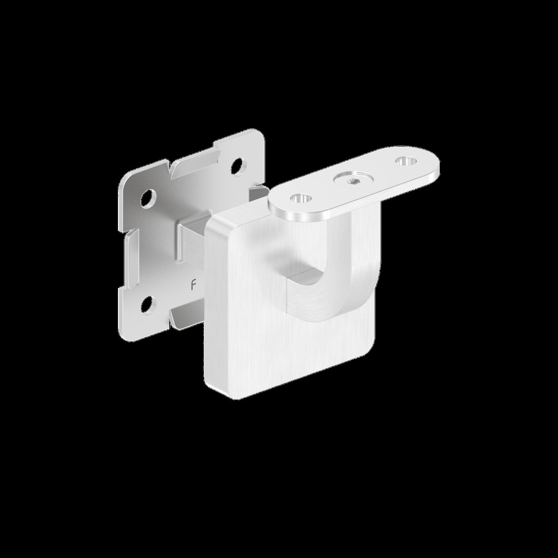 Handlaufhalter mit Cliprosette und Halteplatte