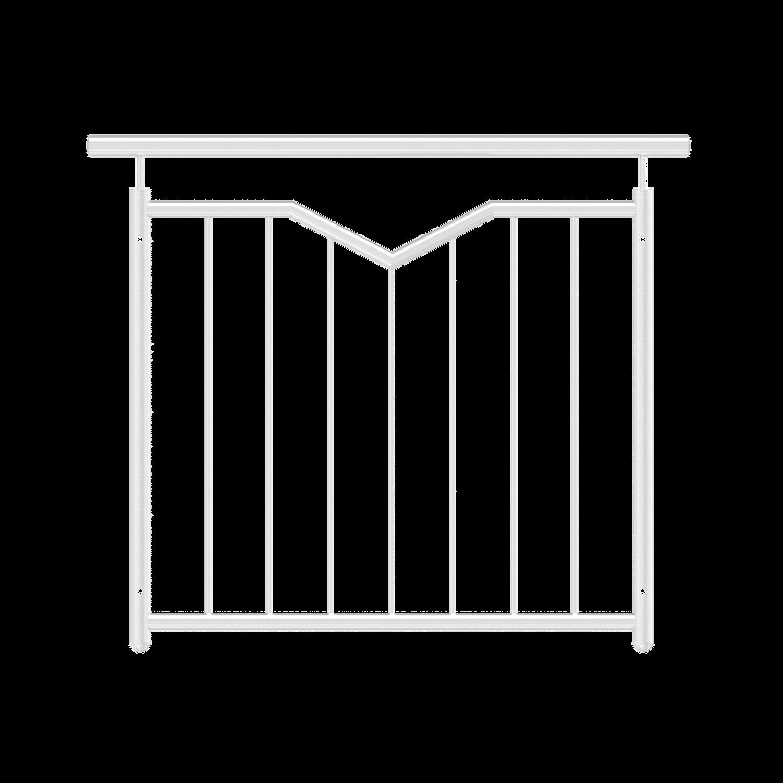 Französischer Balkon mit V-Ausschnitt